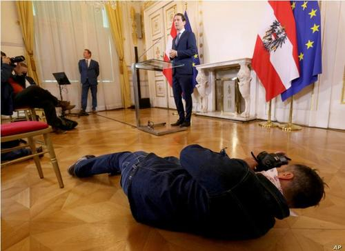 نشست خبری نخست وزیر اتریش در وین