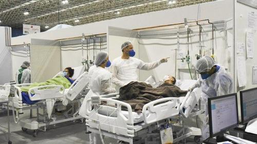 بیمارستان کرونایی ها در شهر ریودوژانیرو برزیل - خبرگزاری آناتولی ترکیه