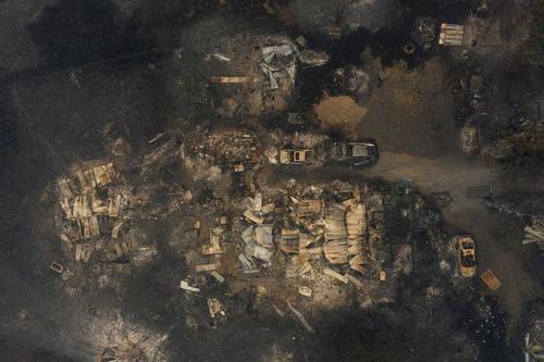 تخریب یک مزرعه در آتشسوزی منطقه اورگن/ رویترز