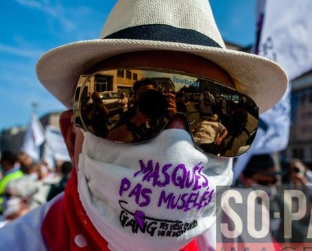 تظاهرات کادر درمان بلژیک در اعتراض به کمبود بودجه/ SOPA Images