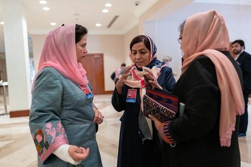 چند تن از اعضای صلح دولت افغانستان در مذاکرات صلح در دوحه قطر/ AL JAZEERA