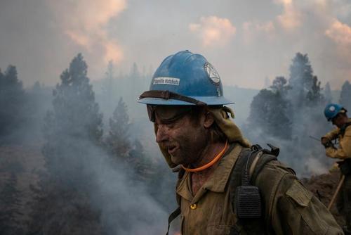 آتشسوزی جنگلی در ایالت اورگان آمریکا/ رویترز