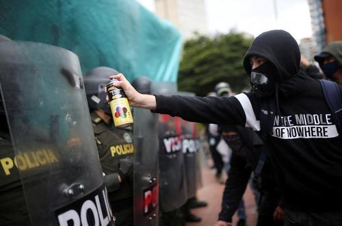 تظاهرات ضددولتی علیه خشونت پلیس در شهر