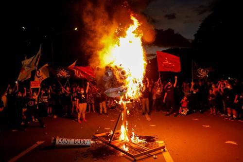 تظاهرات علیه رییس جمهوری فیلیپین در شهر