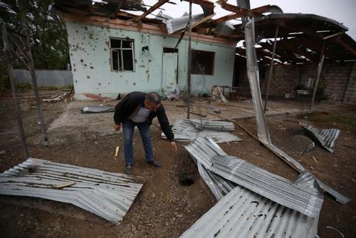 حملات موشکی ارمنستان به مناطق مسکونی شهر