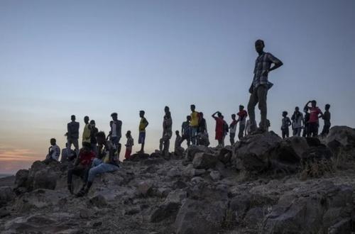 آوارگان جنگی اتیوپی در اردوگاه آوارگان در مرز سودان/ آسوشیتدپرس