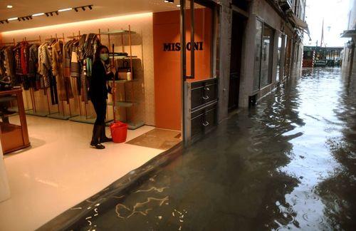 شهر ونیز ایتالیا زیر آب/ خبرگزاری فرانسه