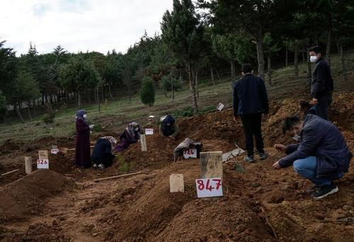 تدفین یک فوتی کرونا در شهر استانبول ترکیه/ رویترز