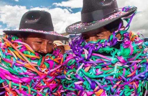 بومیان پرو در یک مراسم آیینی/ خبرگزاری فرانسه