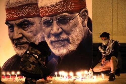 مراسم نخستین سالگرد شهادت سردار سپهبد قاسم سلیمانی و ابومهدی المهندس در شهر بغداد/ خبرگزاری آناتولی