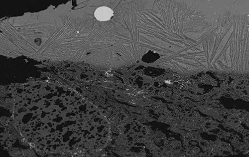 گداز آتشفشانی به شکل تصویر میکروسکوپی