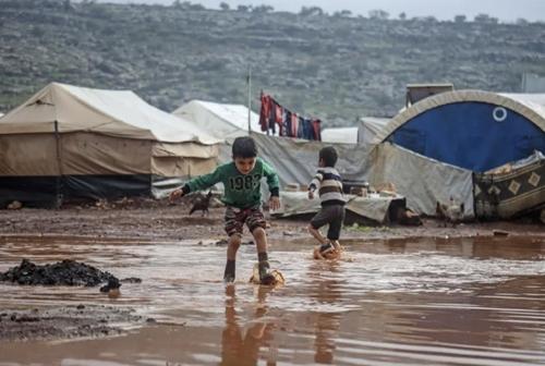 آب گرفتگی اردوگاه آوارگان جنگی در ادلب سوریه/ خبرگزاری آناتولی