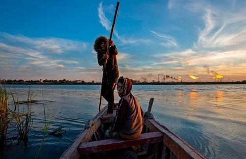 ماهیگیری در بندر بصره عراق/ خبرگزاری فرانسه
