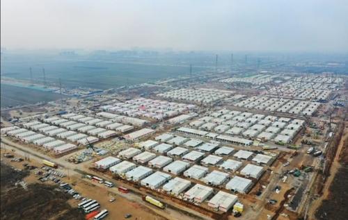 ساخت مراکز قرنطینه افراد مبتلا به کرونا در چین/ آسوشیتدپرس