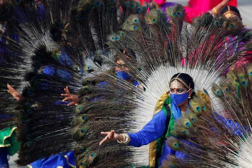 جشن روز ملی هند در شهر دهلی/ رویترز