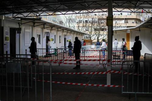 صف انتخابات ریاست جمهوری پرتغال در شهر