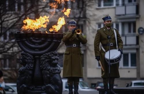 مراسم روز جهانی یادبود هولوکاست در شهر ورشو لهستان/ گتی ایمجز