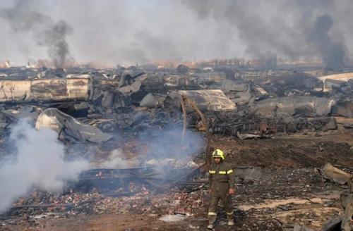 بقایای انفجار مهیب در مرز اسلام قلعه در مرز افغانستان و ایران/ خبرگزاری فرانسه
