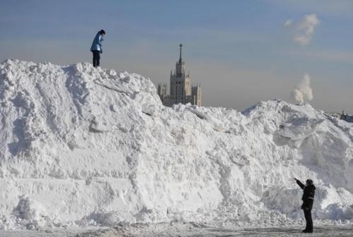 برف در میدان سرخ مسکو/ خبرگزاری فرانسه