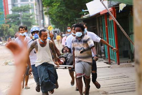 ادامه اعتراضات بر ضدکودتای ارتش میانمار/ رویترز