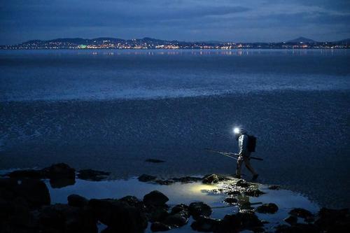 ماهیگیری شبانه در ساحل دوبلین ایرلند/ رویترز