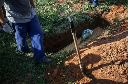 دفن فوتی های کرونا در گورستانی در شهر سائوپائولو برزیل/ رویترز