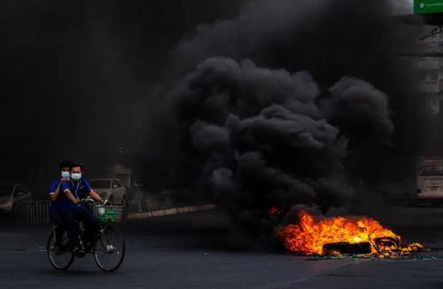 ادامه اعتراضات علیه کودتای نظامی ارتش در شهر یانگون میانمار/ گتی ایمجز