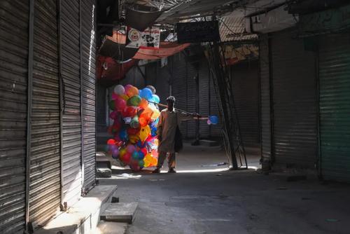 قرنطینه کرونایی در پاکستان. تعطیلی بازار شهر لاهور/ خبرگزاری فرانسه
