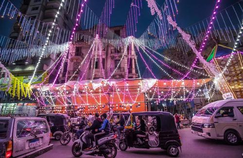 چراغانی شهر قاهره مصر همزمان با حلول ماه رمضان/ خبرگزاری فرانسه