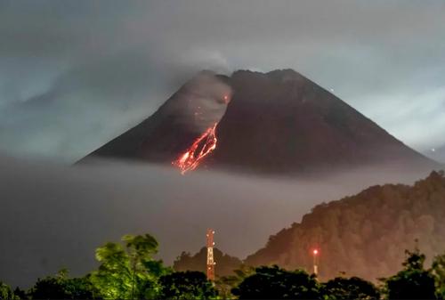 فعالیت آتشفشان کوه