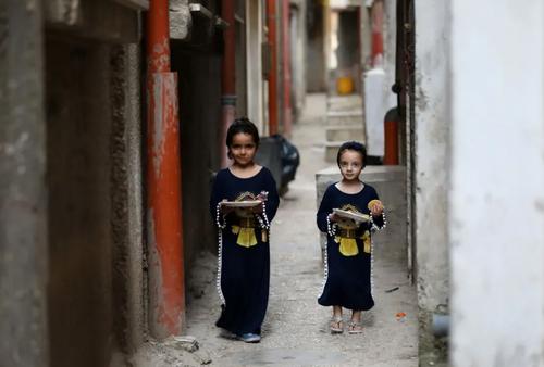 بشقاب های افطار در اردوگاه آوارگان فلسطینی در شهر نابلس در کرانه باختری فلسطین/ شینهوا