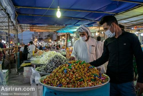 حال و هوای بازار عید فطر در اهواز (عکس)