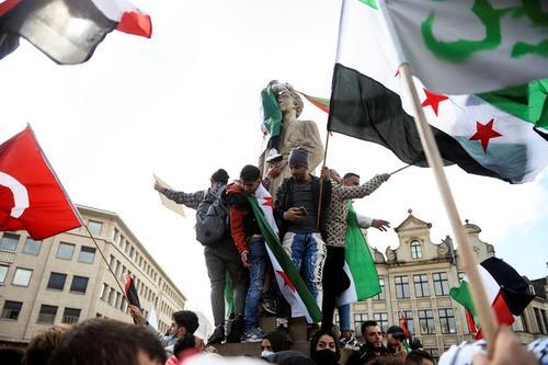 تظاهرات در اعلام همبستگی با مردم فلسطین در شهر بروکسل بلژیک/ رویترز