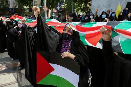 تظاهرات حمایت از فلسطین در تهران/ وانا