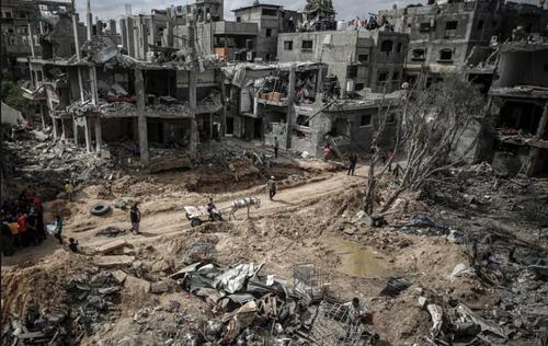 خانه های آسیب دیده از جنگ در نوار غزه/ خبرگزاری آناتولی و آسوشیتدپرس