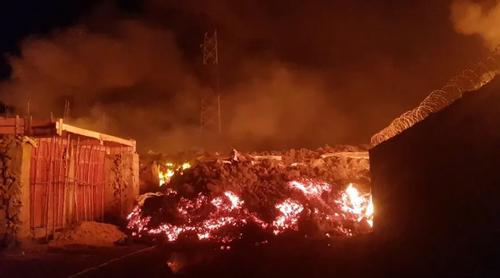 گدازه های آتشفشانی در شهر گوما در کشور آفریقایی جمهوری دموکراتیک کنگو/ رویترز