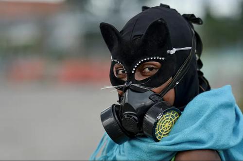 تظاهرات ضددولتی در شهر گالی کلمبیا/ خبرگزاری فرانسه