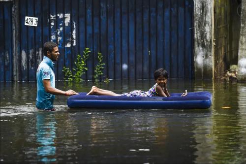 سیل در سریلانکا/ خبرگزاری فرانسه