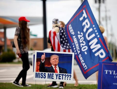 حامیان ترامپ در گردهمایی حزب جمهوریخواه آمریکا در ایالت کارولینای شمالی/ رویترز