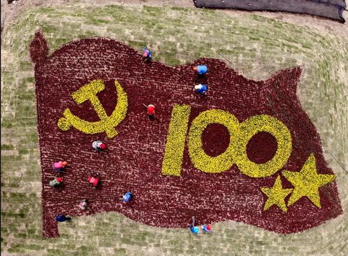 درست کردن گُلفرش به مناسبت صدمین سالگرد تاسیس حزب کمونیست چین در یک مرزعه زراعی در استان جیانگسو چین/ گتی ایمجز