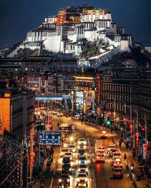 نمایی زیبا از شهر لهاسا، تبت