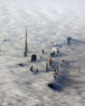 روزی مه آلود در دبی، امارات