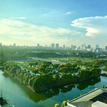 نمایی زیبا از شهر توکیو، ژاپن