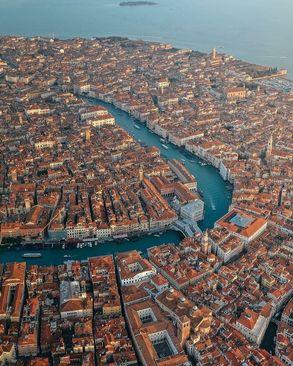 نمایی زیبا از ونیز، ایتالیا