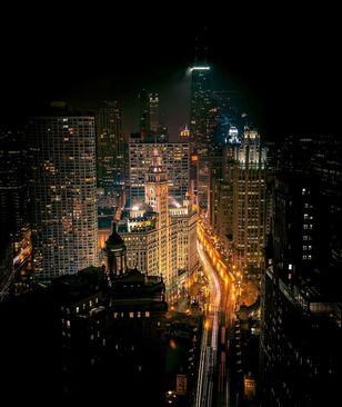 نمای شهر شیکاگو از فراز بام هتل هارد راک