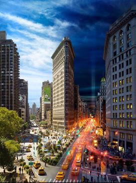 ترکیب شب و روز در منطقه فلتیرون نیویورک، آمریکا
