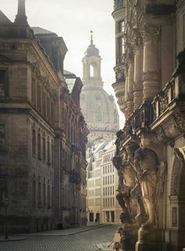 نمایی زیبا از شهر درسدن، آلمان