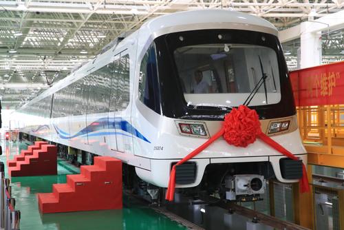 رونمایی از قطار مجهز به فناوری خودران در نینگبو(استان چجیانگ). 29 ژوئن 2021