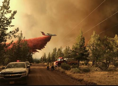 آتش سوزی جنگلی در ایالت اورگان آمریکا/ آسوشیتدپرس