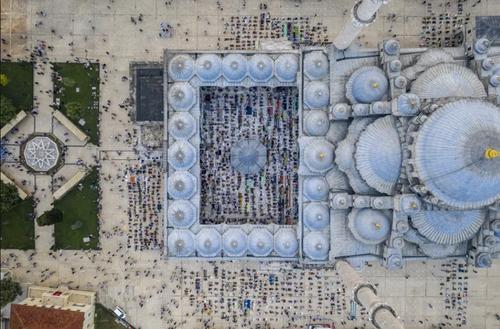 اقامه نماز عید قربان در مسجد فاتح  شهر استانبول/ خبرگزاری آناتولی